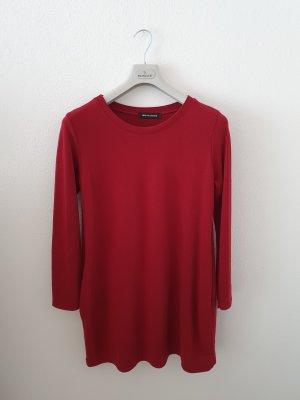 new collection Vestido de tela de sudadera rojo oscuro-carmín