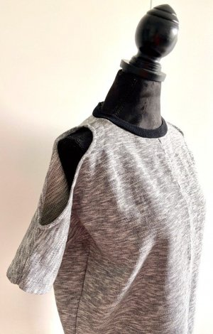 Asos Cut Out Dress light grey mixture fibre