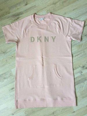 DKNY Abito felpa rosa antico-argento Cotone