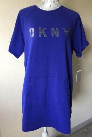DKNY Sukienka dresowa niebieski-ciemny fiolet