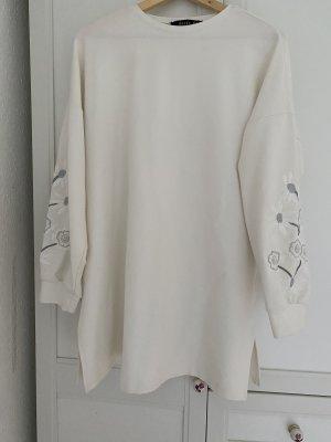 Refka Vestido de tela de sudadera blanco puro-color plata
