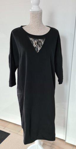 Sweatkleid schwarz - Größe 48/50 - Plussize - esmara - neu
