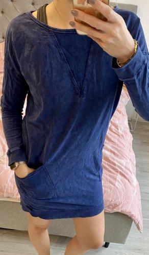 Esprit Sukienka dresowa szary niebieski-ciemnoniebieski