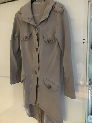 Shirt Jacket silver-colored cotton