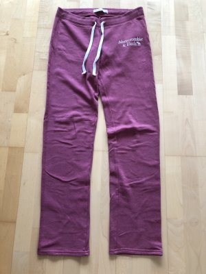 Abercrombie & Fitch Sweat Pants pink cotton