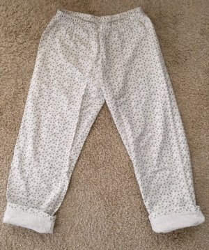Pantalón deportivo gris claro-blanco