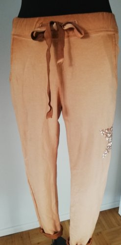Made in Italy Joggingbroek abrikoos-stoffig roze