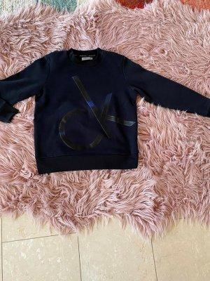 Calvin Klein Jeans Sweatshirt zwart Katoen