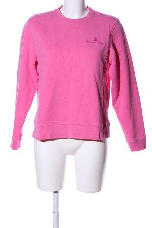 Sweatshirt pink Schriftzug gestickt Casual-Look