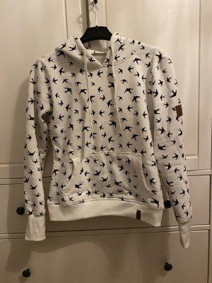 AIKI KEYLOOK Pull à capuche noir-blanc