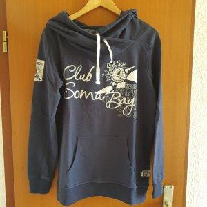 Soccx Hooded Sweatshirt dark blue cotton