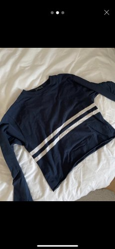 Brandy & Melville Camicia cropped blu scuro-bianco