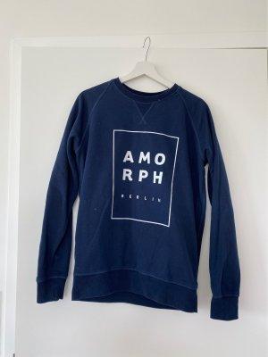 Amorph Sweatshirt wit-donkerblauw