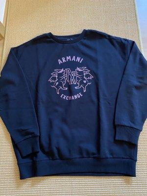 Armani Exchange Sweatshirt zwart-roze