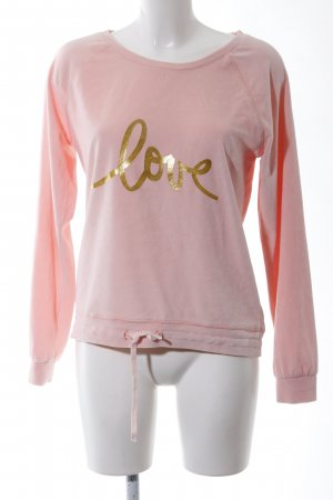 Decay Women Sweatshirt pink Schriftzug gedruckt Casual-Look