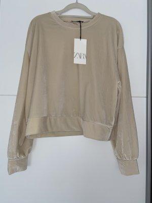 Sweatshirt beige samt Zara