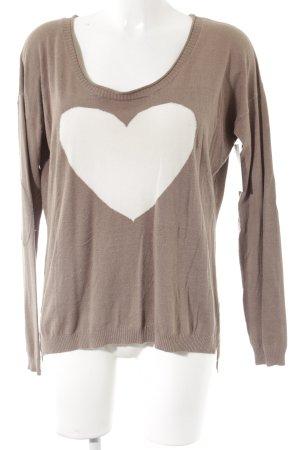 Sweatshirt beige-wollweiß Casual-Look