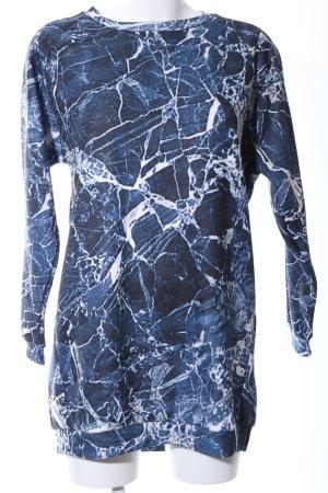 Gaelle Bonheur Sweatshirt blau-weiß abstraktes Muster Casual-Look
