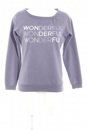 Sweatshirt blauviolett Casual-Look