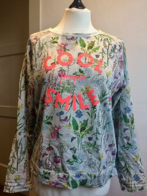 Sweatshirt Blumenmuster