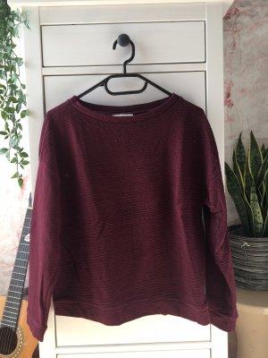 Sweatshirt bordeaux rot Zara