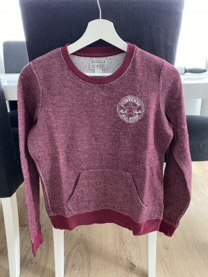 Converse Sweatshirt rouge mûre-bordeau