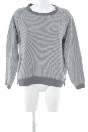 Sweatshirt dunkelgrau-weiß Casual-Look