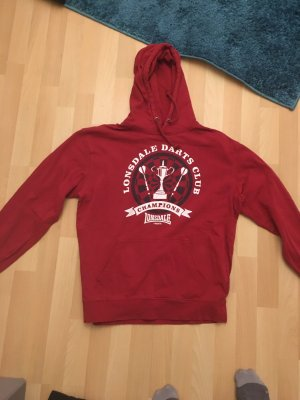 Lonsdale Hooded Sweater dark red-red