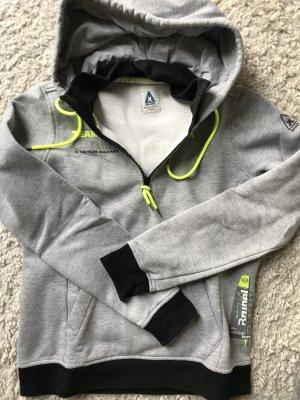 Sweatshirt Gaastra, grau/neongelb, Gr. 40