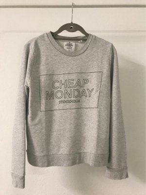 Cheap Monday Felpa grigio chiaro-nero
