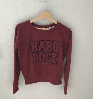 Hard Rock Cafe Sweatshirt rouge foncé coton