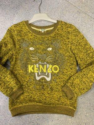 Kenzo Polarowy sweter limonkowy żółty-ochra