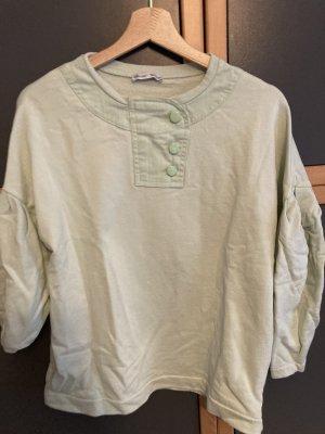 Sweatshirt in mintfarbend, Zara