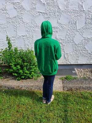 H&M Kurtka z kapturem zielona łąka-leśna zieleń