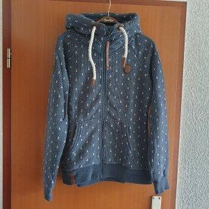 Naketano Sweat Jacket slate-gray cotton