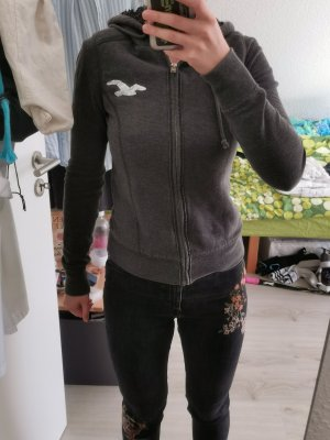 Hollister Sweat Jacket dark grey