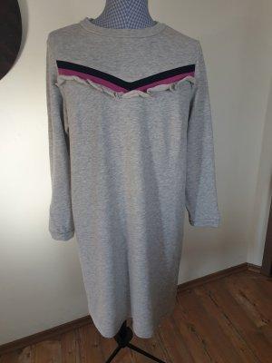 C&A Yessica Vestido de tela de sudadera gris claro