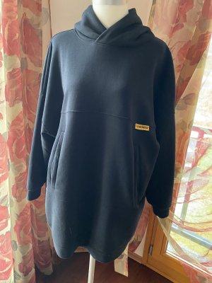 Sweatshirt Kleid schwarz Oversize