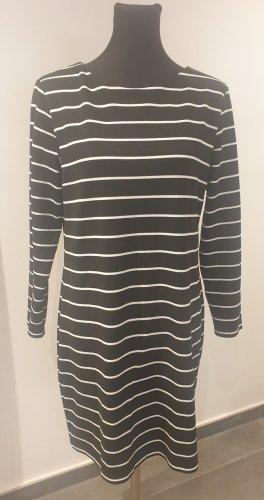 ohne Marke Vestido de tela de sudadera blanco-negro