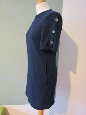 Sweat Dress dark blue-light brown
