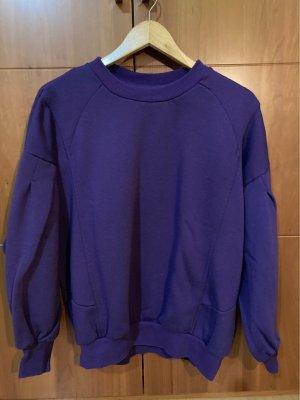 Bershka Sweat Shirt dark violet