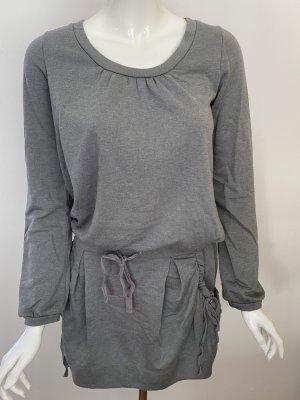 Comptoir des Cotonniers Vestido de tela de sudadera color plata