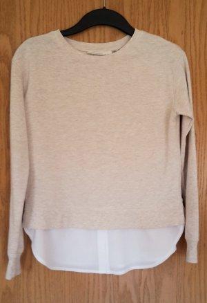 Sweatshirt mit angesetztem Blusenteil Gr. XS
