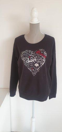 Sweatshirt mit aufgedrucktem Herz Gr. L