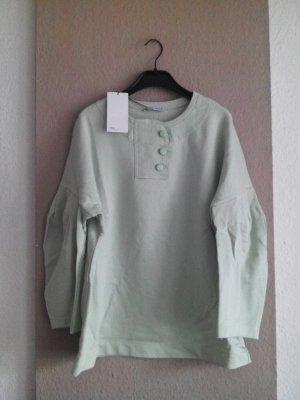 Sweatshirt mit Ballonärmeln aus 100% Baumwolle, Größe L neu