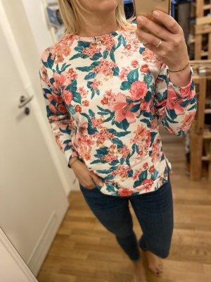 Sweatshirt mit Blumen Pull & Bear