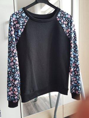 Amy & Ivy Jersey de cuello redondo negro-rosa claro