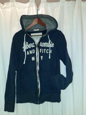 Abercrombie & Fitch Sudadera con capucha gris-azul oscuro
