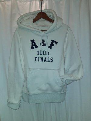 Abercrombie & Fitch Camicia con cappuccio bianco sporco-blu scuro