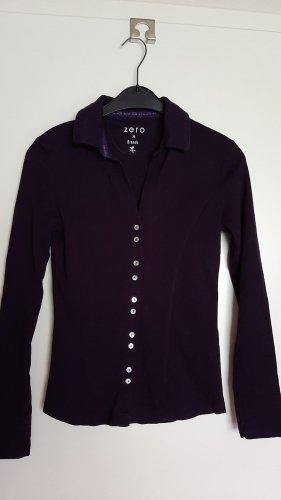 Zero Sweatshirt blanc cassé-violet foncé coton